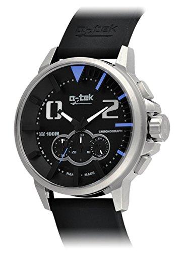 エイテック 腕時計 スポーツ クロノグラフ インデックス 24時間表示 46mm buceoシリーズ A1304[並行輸入品(ブラックxブルー)