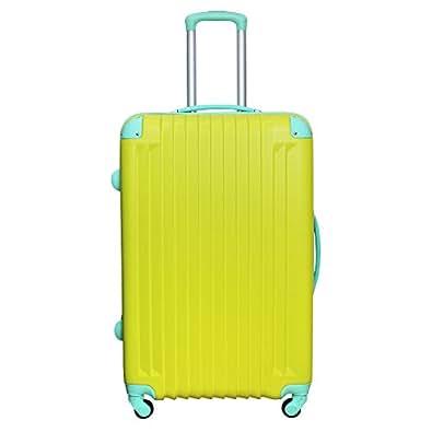 DABADA(ダバダ) 軽量 スーツケース S M Lサイズ 全8色 TSAロック ファスナータイプ キャリーバッグ キャリーケース (S, イエロー)