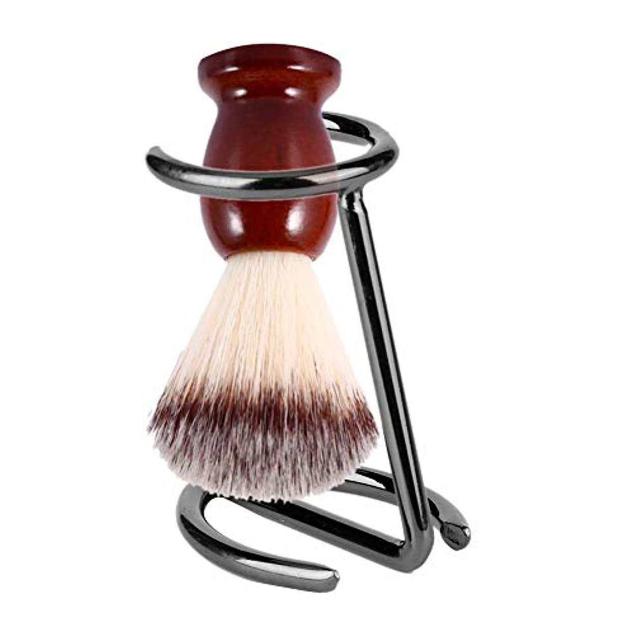 適格アサー彼の剃毛ブラシスタンド、男性の剃毛ブラシステンレス鋼スタンドかみそりホルダーサロンホーム旅行用
