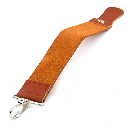 KaLaiXing Straight Razor Sharpener Strap Belt. Genuine Leather Strop Belt with Sharpening Polishing for Knife Straight Razor by. 58cm * 5cm