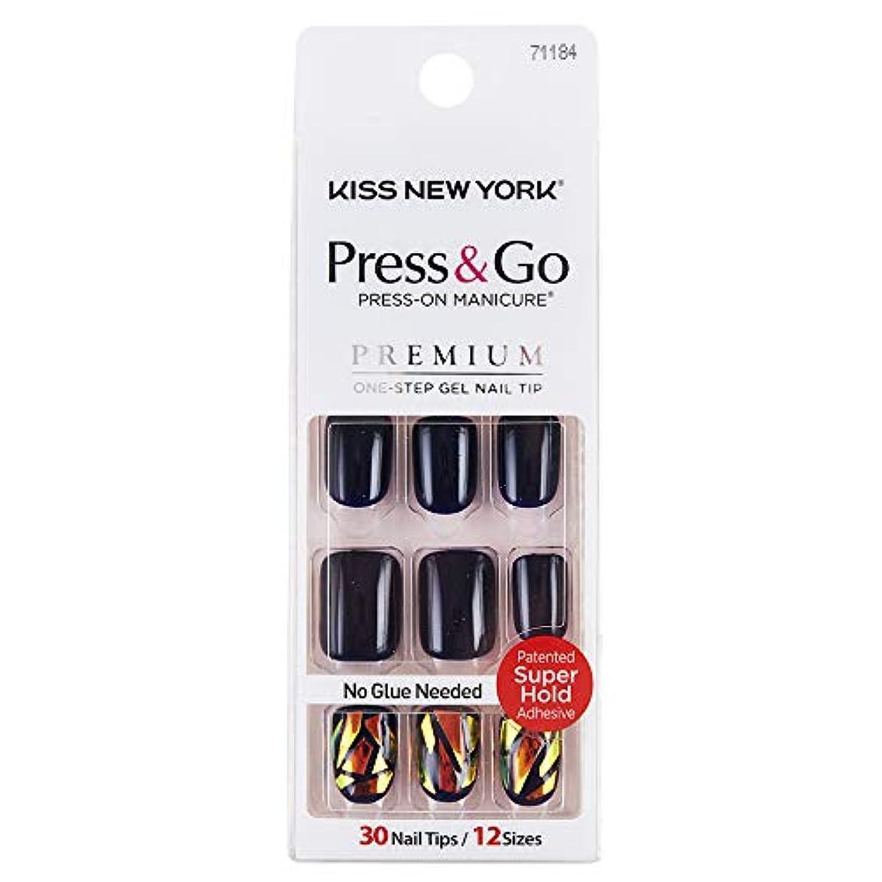 平らなレコーダー付添人キスニューヨーク (KISS NEW YORK) KISS NEWYORK ネイルチップPress&Go BIPA050J 19g