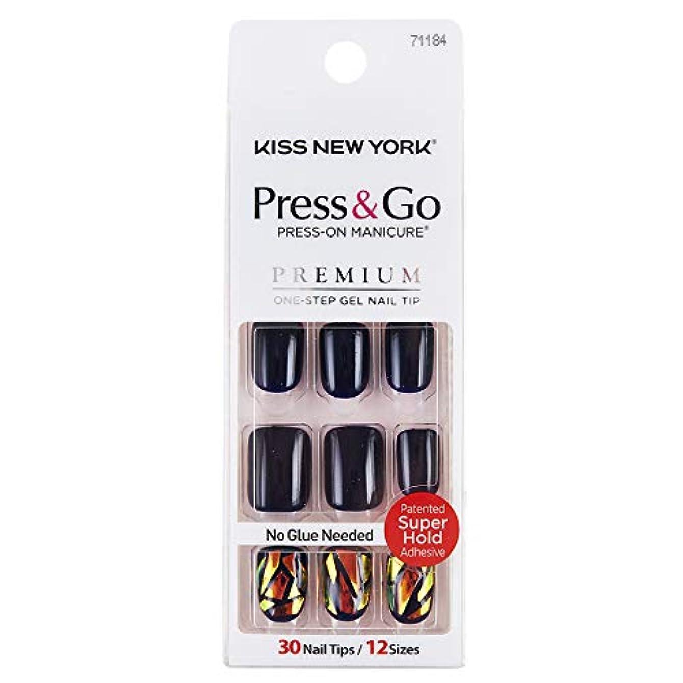 果てしない大砲ラフレシアアルノルディキスニューヨーク (KISS NEW YORK) KISS NEWYORK ネイルチップPress&Go BIPA050J 19g