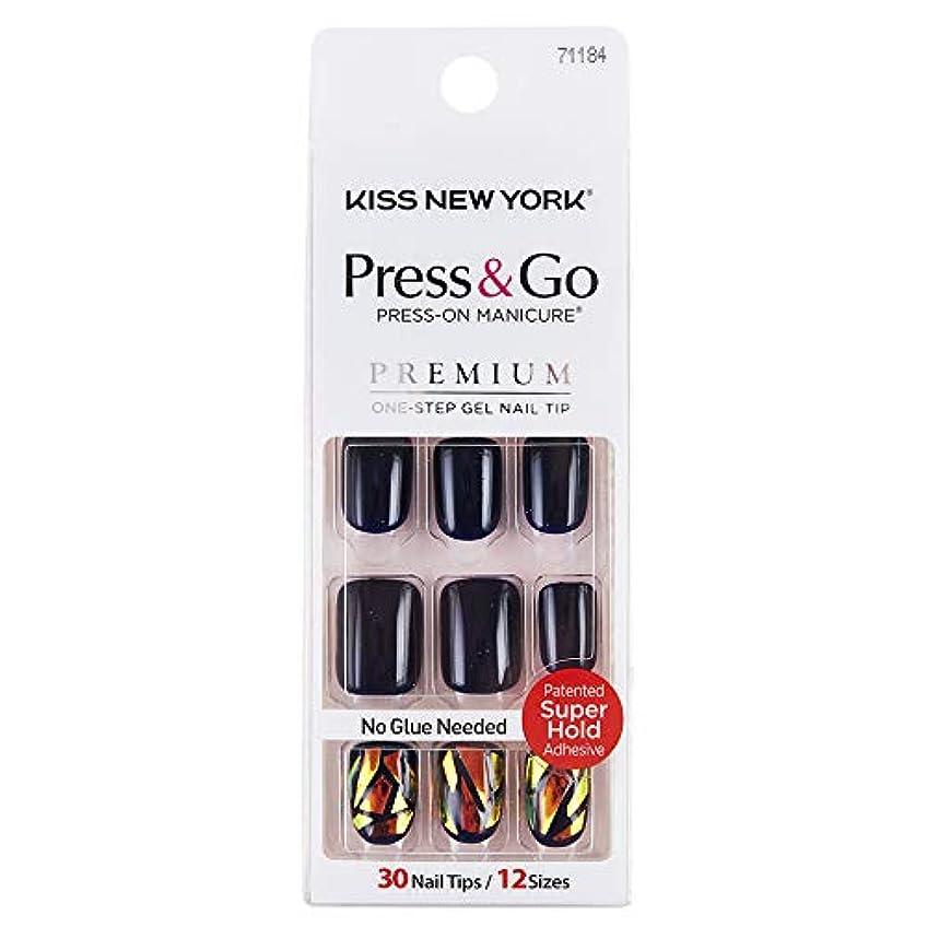 医療の非常にスチールキスニューヨーク (KISS NEW YORK) KISS NEWYORK ネイルチップPress&Go BIPA050J 19g