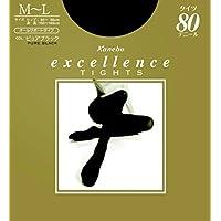 エクセレンス タイツ 80デニール M-L ピュアブラック