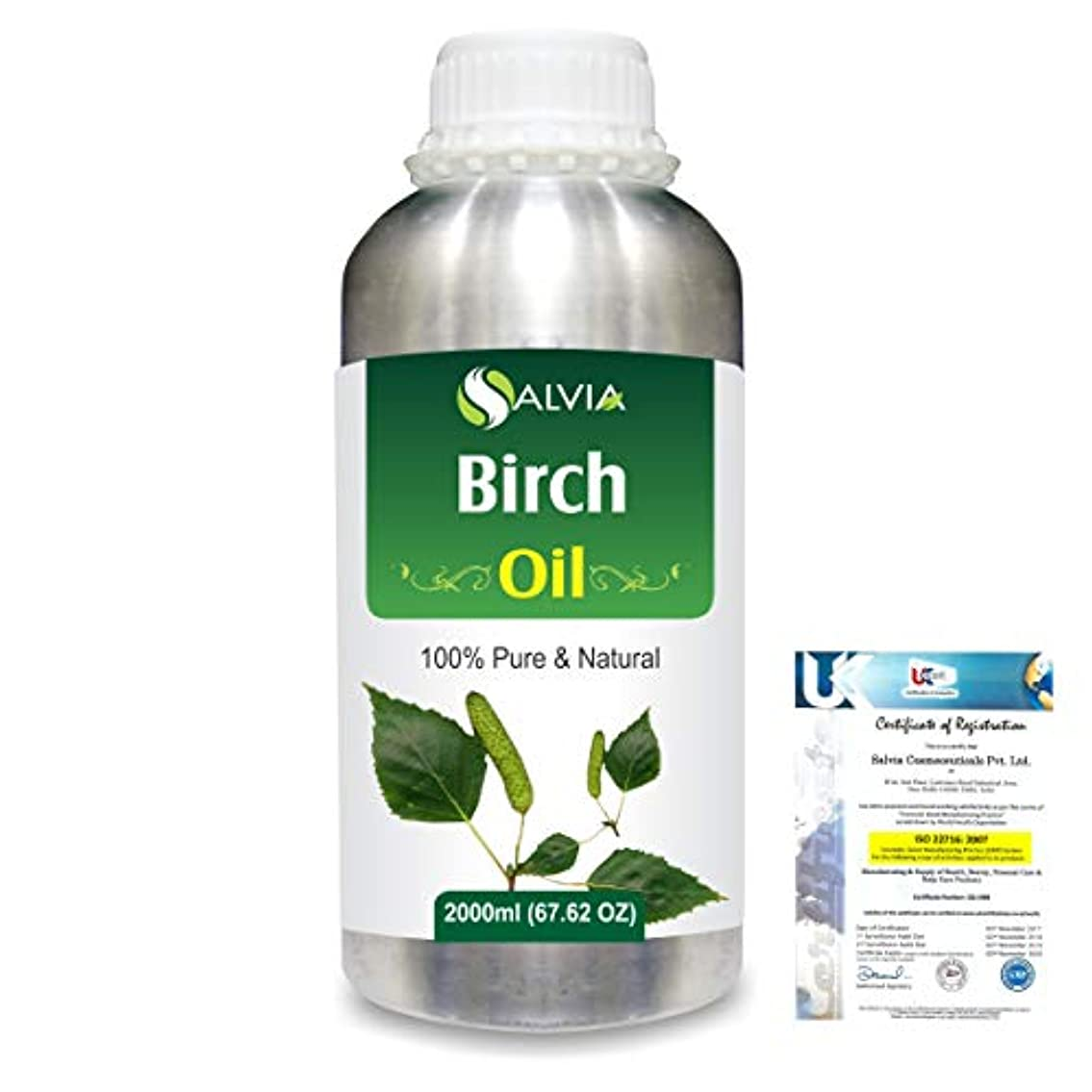 機械リネン連鎖Birch (Betula Pendula,Betula Alba) 100% Natural Pure Essential Oil 2000ml/67 fl.oz.