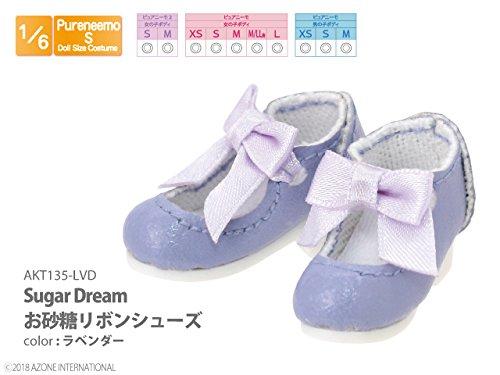 ピュアニーモ用 Sugar Dream お砂糖リボンシューズ ラベンダー (ドール用)