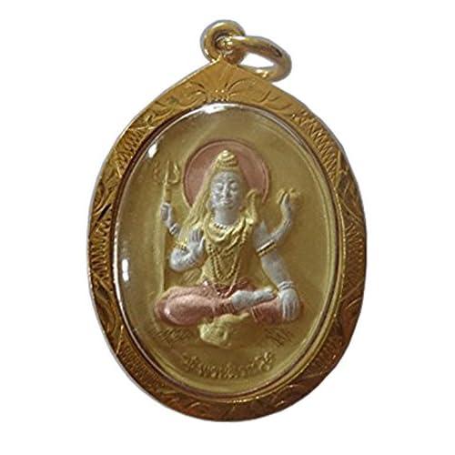 A052 Pendant Necklace Buddhist Hindusim Amulets Phra Shiva Uma Amulet Pendant Hindu Success Amulet by Thai Amulets [並行輸入品]