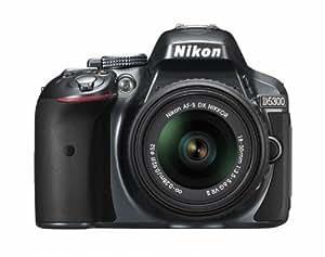 Nikon デジタル一眼レフカメラ D5300 18-55mm VR II レンズキット グレー 2400万画素 3.2型液晶 D5300LK18-55VR2GY