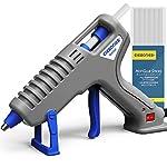 中小型 グルーガン elesories 35W 高温 ぐるーがん ホットボンド 手芸用 木工用 diy 補修 工具セット スティック10本付 強力