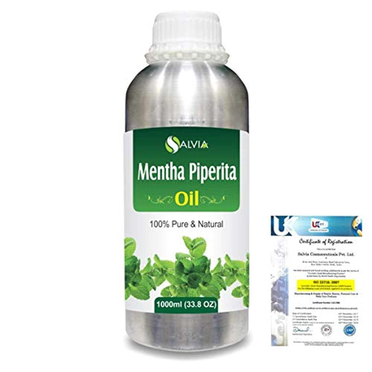 箱フォークパースブラックボロウMentha Pipreta 100% Natural Pure Essential Oil 1000ml/33.8fl.oz.