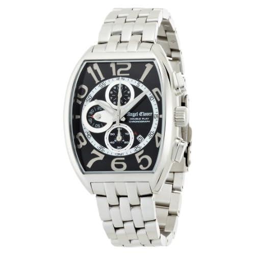[エンジェルクローバー]Angel Clover 腕時計 ダブルプレイ ブラック/シルバー文字盤  デイト クロノグラフ DP38SBK メンズ