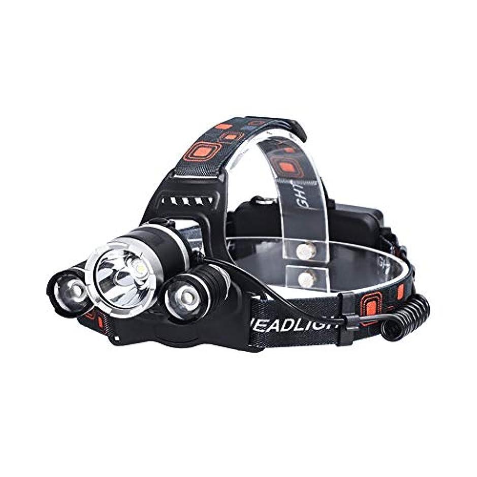フェミニン競争わなFishtravel アウトドア ヘッドライト LED USB充電式 防水 角度調節可能 頭 ヘルメット ヘッド ランプ 最強 明るい 曇り 釣り 登山 キャンプ サイクリング 防災 非常時用 (グレー)