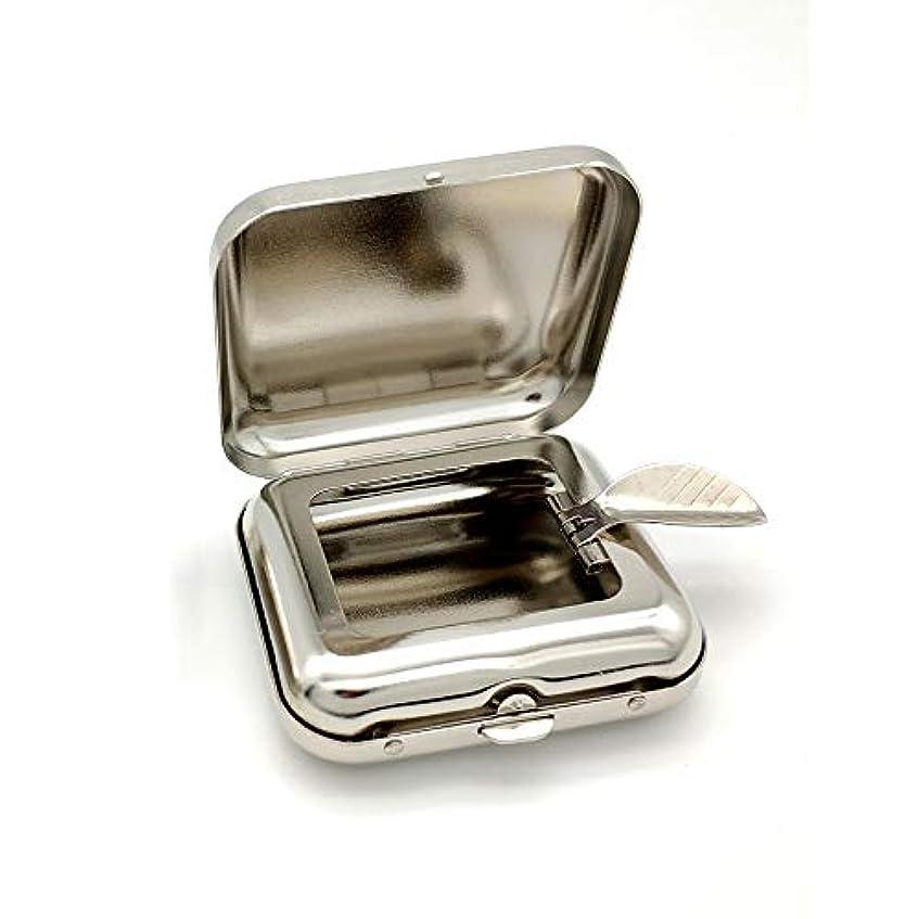 内側時計回り秘密の自動ポップアップ灰皿の金属の携帯用灰皿が付いている小型正方形の灰皿の緑のポケット
