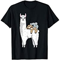 DINGLIDQ Patronus Sloth & Koala ON Llama Alpaca, Official Napping T-Shirt