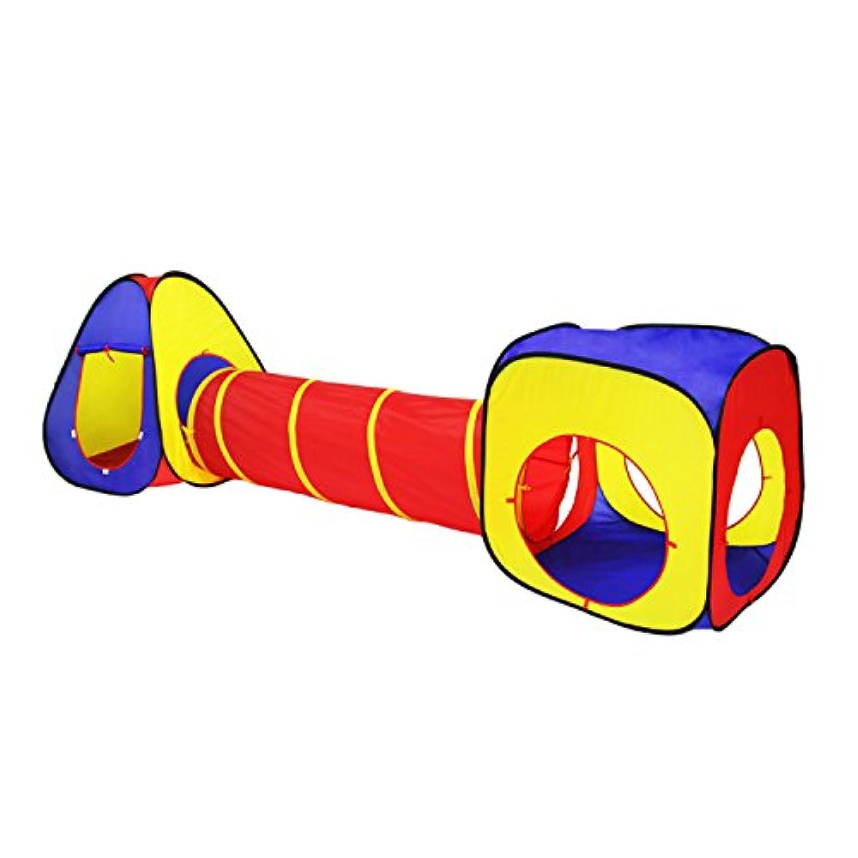 1つcubby-one teepee-oneトンネル3 in 1 Children Play Tent Set for Kids Toysインドア&アウトドア使用