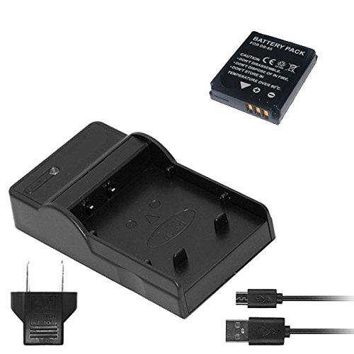 プラチナムロット バッテリー + D68 USB充電器 セット  RICOH DB-65 互換 バッテリー + BJ-6 汎用 充電器 GR DIGITAL IV III / G700 G600 GX200 等 対応