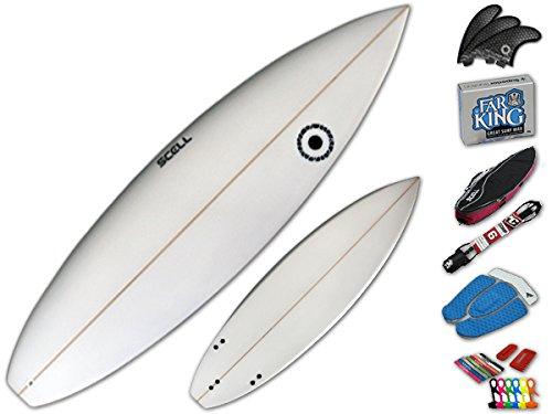 ショートボード6'5 クリアセット●サーフボード◆SCELL サーフィン 初心者7点SET ステップアップモデル