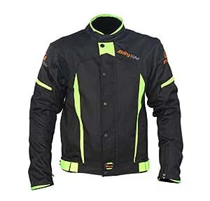 上半身 バイクジャケット冬 春秋 防水防寒 ナイロンジャケット レーシング服 ツーリング バイク用品 バイクウェア 保護バットに付き ナイロン着脱可 XLサイズ