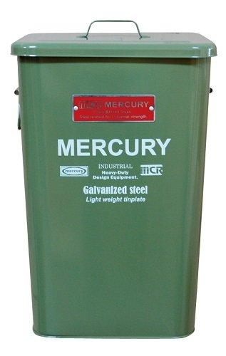 RoomClip商品情報 - MERCURY マーキュリー スクエア ダストビン ブリキ製 ゴミ箱 OLIVE GREEN オリーブ グリーン