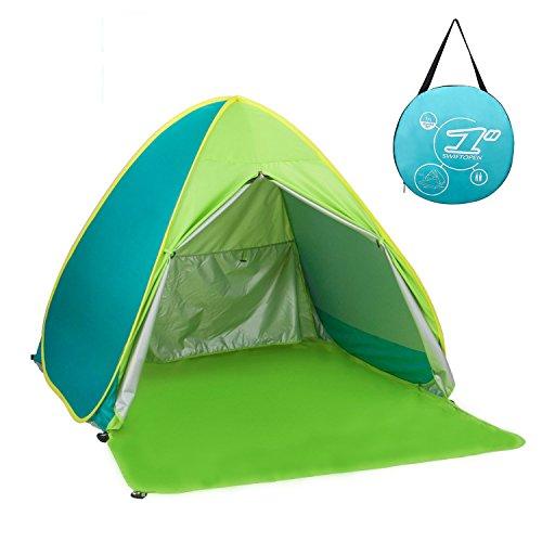ワンタッチテント サンシェードテント 4色 BATTOP ポップアップビーチテント 2~3人用 95%UVカット 防水&通気 フルクローズ キャンプテント アウトドア コンパクト インスタントテント 収納バッグ付き (グリーン)
