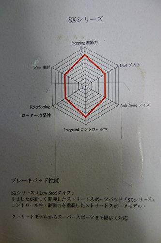 ブレーキパッド フロント左右2枚セット(ダブルディスク) CB400SF スーパーフォア('92-'96) CBR250RR ('90-'94) CB400FOUR (NC36 '13-'15) CB400X ('13-'15) CBR400RR ('88-'94) RF400R/P/R ('93-'96) GSX400インパルス('94-'96)スカイウェイブ650/LX ('02-'09)GSF600/S バンディット600 ('95-'99) SX418-2