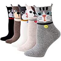 Moonasy Woman Cute Funny Dog Design Novelty Socks long Ankle Casual Cotton Animal Socks for Girls