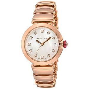 [ブルガリ]BVLGARI 腕時計 ルチェア ホワイト文字盤 ダイヤモンド LUP33WGGD/11 レディース 【並行輸入品】