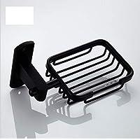便利な設置、錆びない耐久性のあるスペースアルミソープラック。 (Color : ブラック)