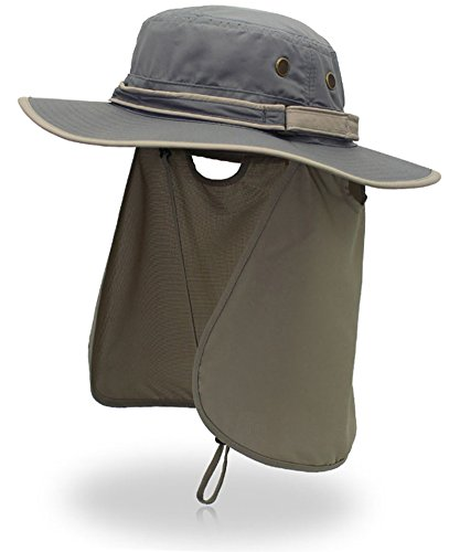 (ムコ) MUCO 日焼け防止 帽子 日よけ帽 UVカット 紫外線 日除け帽 MU-LD-19 dark gray