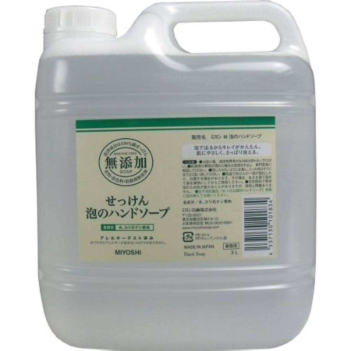 評価可能シャベル乳【セット品】無添加せっけん泡のハンドソープ 3000ml ×5個