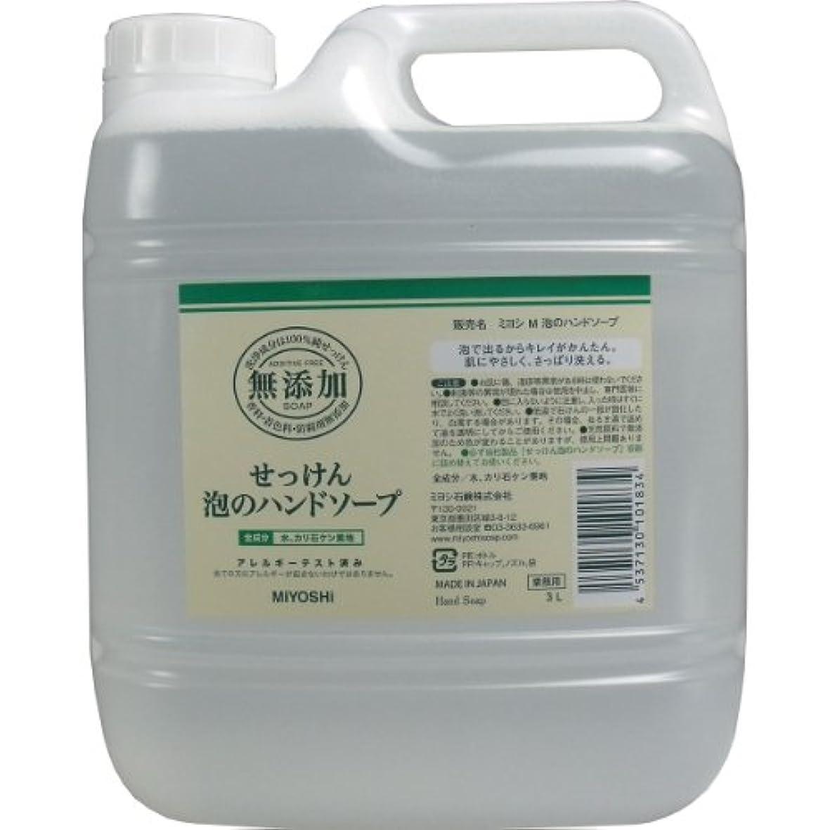 蒸マート突破口無添加せっけん 泡のハンドソープ 詰替用 (業務用) 3L
