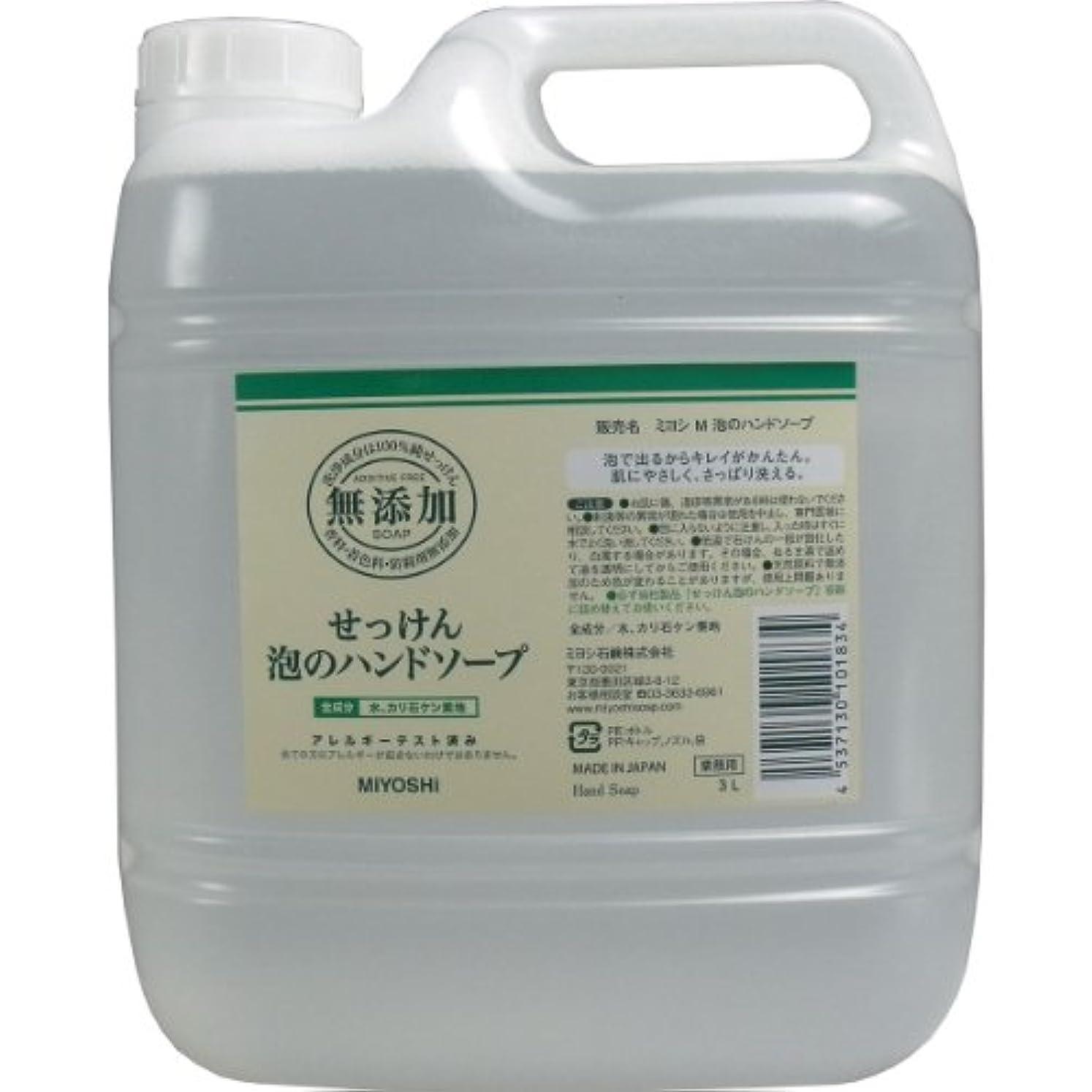工場輸血プライバシー【セット品】無添加せっけん泡のハンドソープ 3000ml ×3個