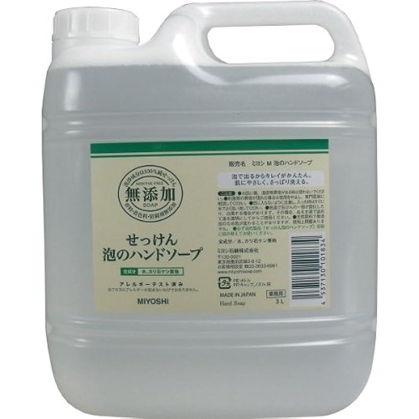 贅沢なアソシエイトレンジ【セット品】無添加せっけん泡のハンドソープ 3000ml ×5個