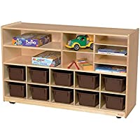 Wood Designs Kids Play Toy Book合板オーガナイザーwd1650212ブラウントレイPlus棚ストレージ