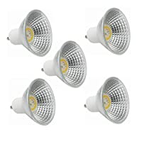 Vshiaifen GU10 5パックLED電球 - 50W相当ハロゲン電球、3000K / 6000K 100-130V 5W LEDスポットライト、45度、非調光 (色 : 暖かい白)