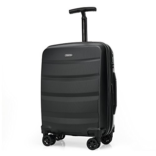 Kroeus(クロース)スーツケース 大容量 ABS・PC キャリーケース 機内持込可 超軽量 海外旅行 出張 拡張機能 TSAロック搭載 耐衝撃 4輪静音ダブルキャスター 仕切り付き 防塵カバー Sサイズ ブラック
