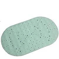 WANGRUIHONG- 耐久性のある滑り止めマット、ホーム無味マット、バスルーム滑り止めバスマット抗菌シャワーマット (Color : Green)