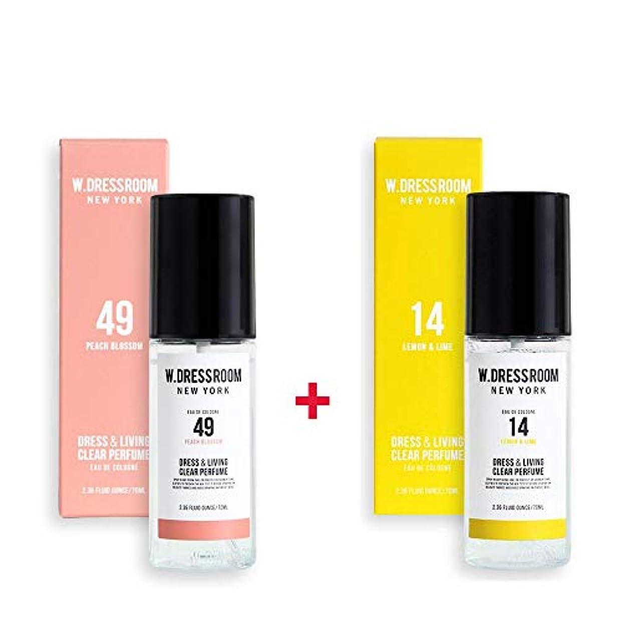 ポーチ領事館除外するW.DRESSROOM Dress & Living Clear Perfume 70ml (No 49 Peach Blossom)+(No 14 Lemon & Lime)