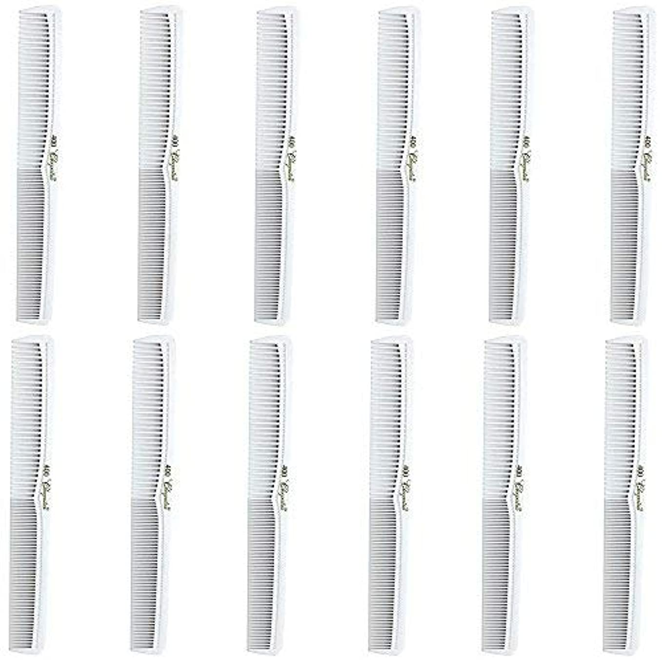 Barber Beauty Hair Cleopatra 400 All Purpose Comb (12 Pack) 12 x SB-C400-WHITE [並行輸入品]