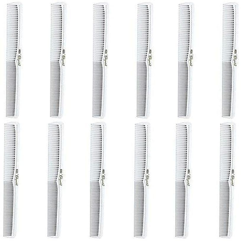 ゲートウェイ面倒クリームBarber Beauty Hair Cleopatra 400 All Purpose Comb (12 Pack) 12 x SB-C400-WHITE [並行輸入品]