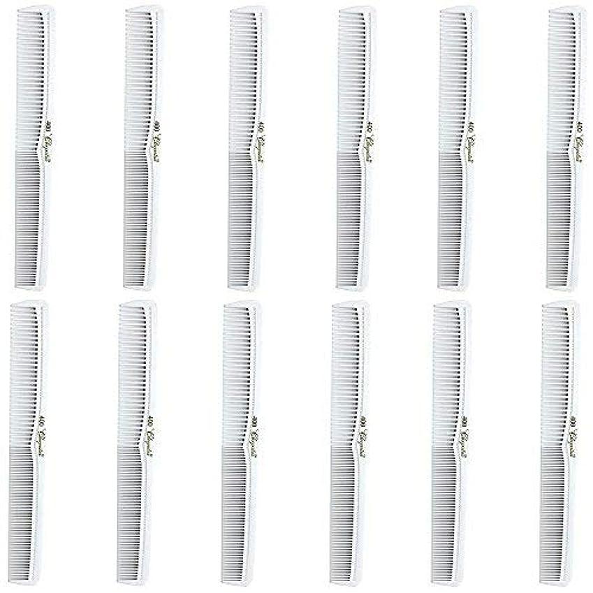 歯まっすぐにする承認Barber Beauty Hair Cleopatra 400 All Purpose Comb (12 Pack) 12 x SB-C400-WHITE [並行輸入品]