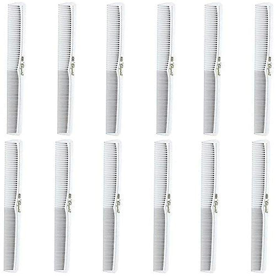 壊滅的なはっきりとサリーBarber Beauty Hair Cleopatra 400 All Purpose Comb (12 Pack) 12 x SB-C400-WHITE [並行輸入品]