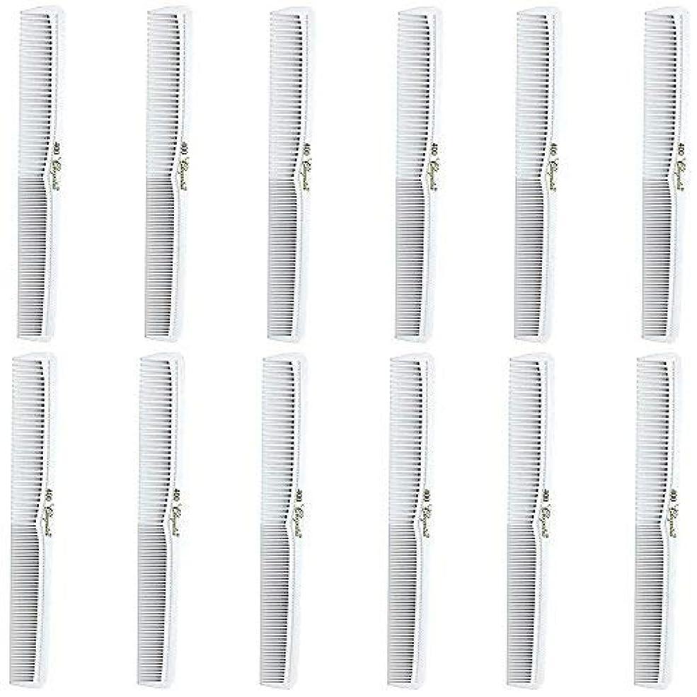 こっそり罪悪感多様性Barber Beauty Hair Cleopatra 400 All Purpose Comb (12 Pack) 12 x SB-C400-WHITE [並行輸入品]