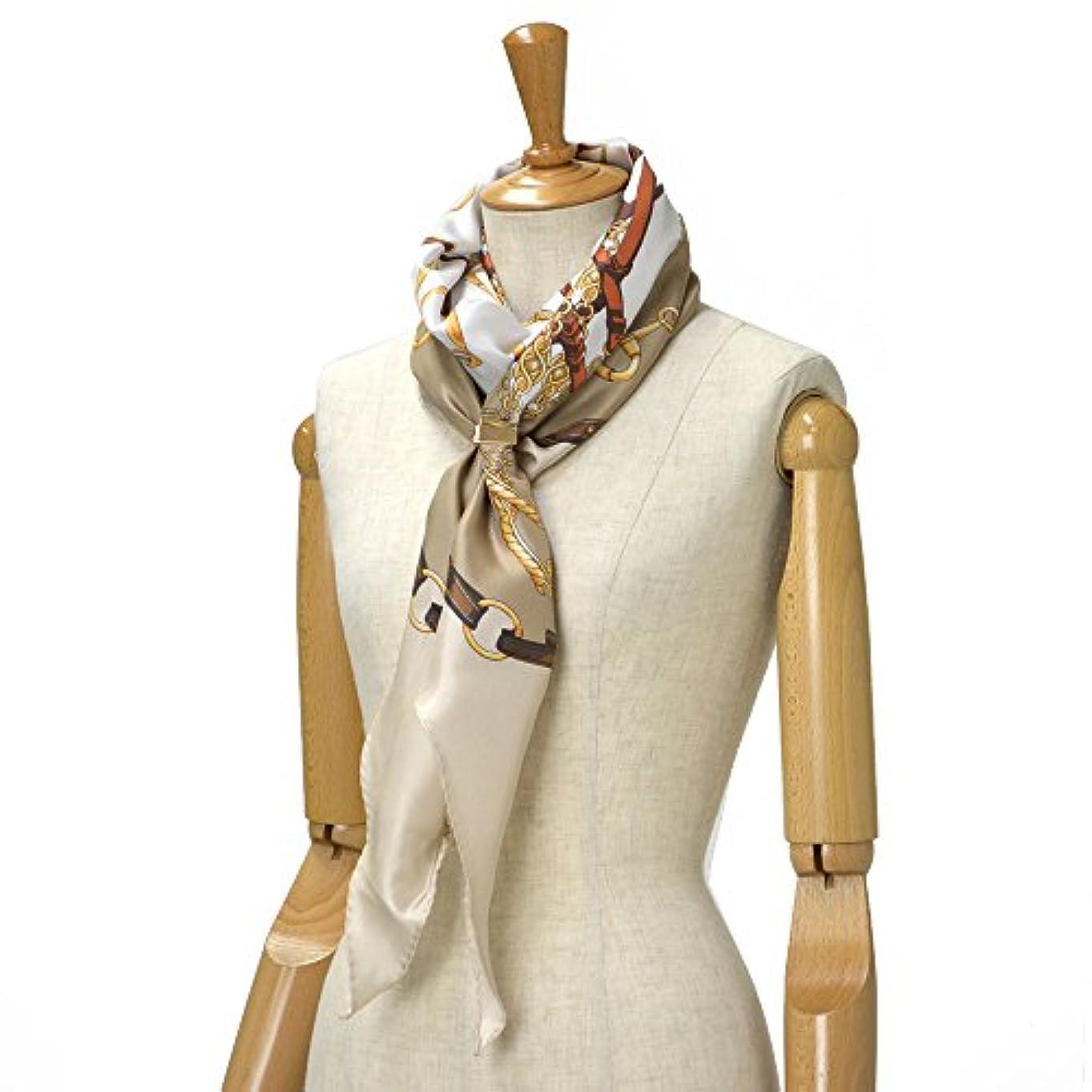 骨管理する決めますAltea【アルテア】ひし形ベルト柄スカーフ 1760517 04 シルク ベージュ