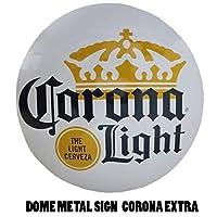 ドームメタルサイン CORONA LIGHT アメリカン雑貨 アメリカ雑貨 ガレージ雑貨 バー用品 リカー 酒