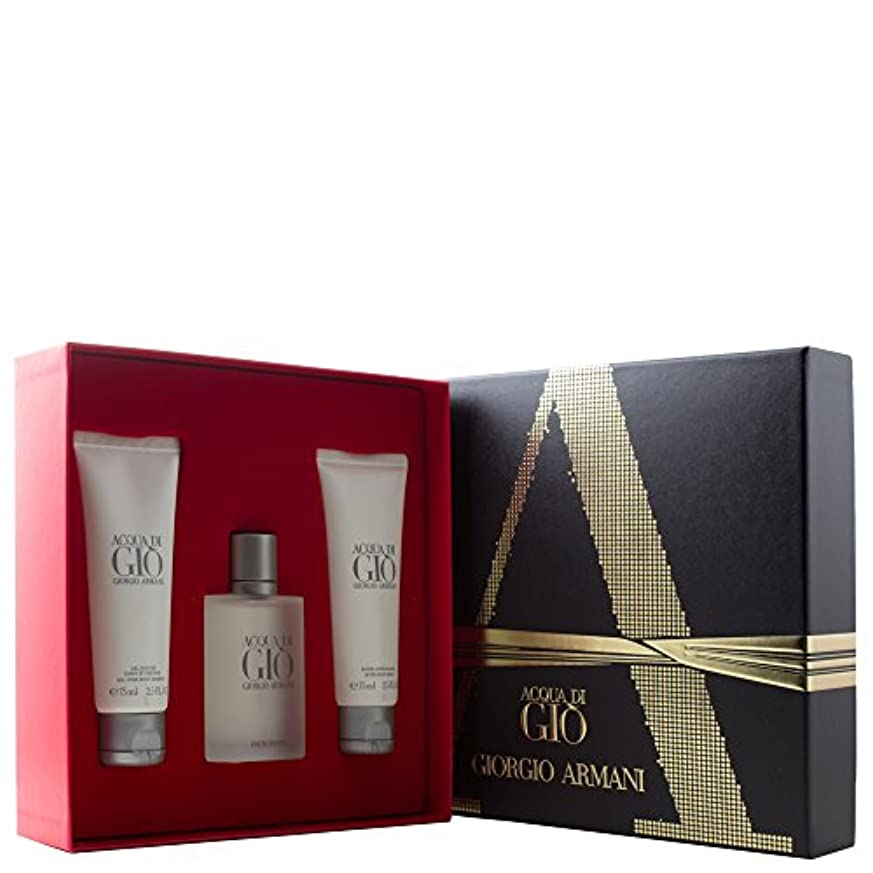 セラフおしゃれな信仰ジョルジオアルマーニ Acqua Di Gio Coffret: Eau De Toilette Spray 50ml/1.7oz + All Over Body Shampoo 75ml/2.5oz + After Shave...