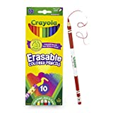 Crayola Erasable Colored Pencils, Non-Toxic, Fully Erasable Pencils Colored Pencil Set for Adult Coloring Books or Kids 4 & Up, Great for Shading, Gradation, Line Art & More
