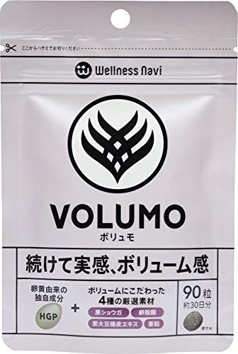 Wellness Navi (ウエルネスナビ)VOLUMO(ボリュモ) ボリューム HGP 黒ショウガ 卵殻膜 黒大豆種皮エキス 亜鉛 サプリメント