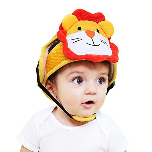 GIMart 赤ちゃん あたま ガード ヘルメット メッシュ スポンジヘルメット ヘッドガード ベビー 乳幼児 安全 ヘルメット 可愛い帽子 頭を保護 転倒&怪我防止 多機能保護 出産祝いに最適 適用年齢(6ヶ月-24ヶ月) (ライオン)