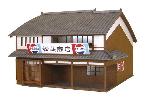 さんけい 1/87 情景シリーズ 街角のお店-01 MK05-01 ペーパークラフト
